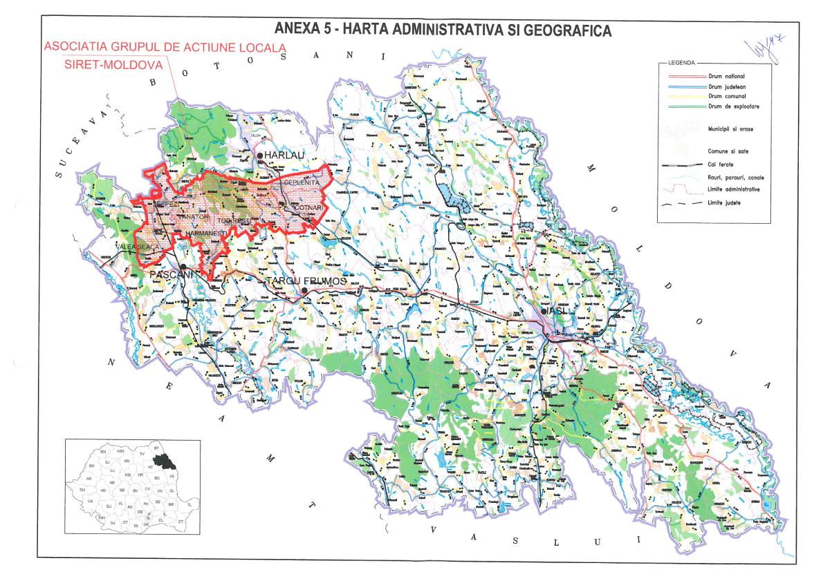 """Teritoriu de dezvoltare al Asociație GAL """"Siret-Moldova"""""""